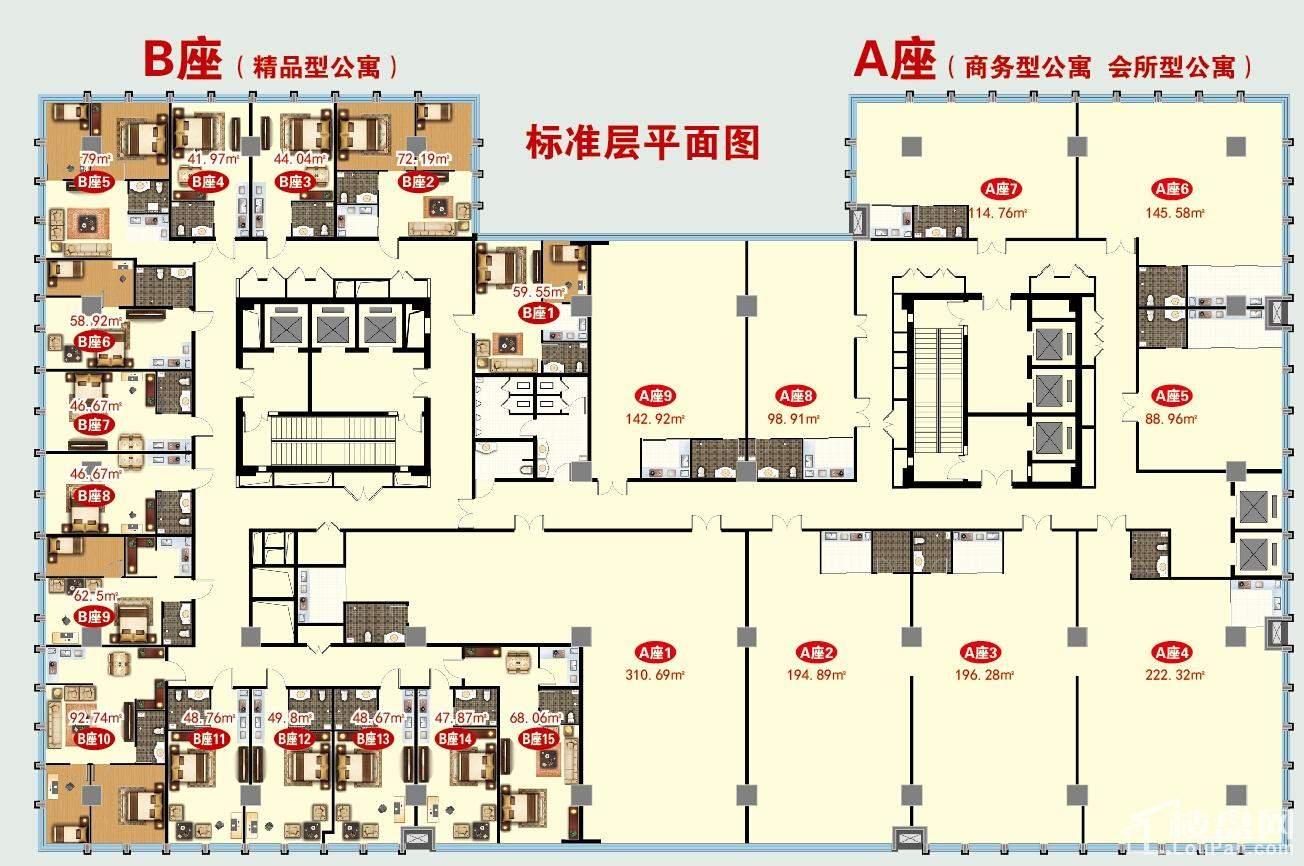 万悦铂金公寓户型图