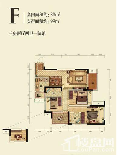 融创滨江壹号户型图
