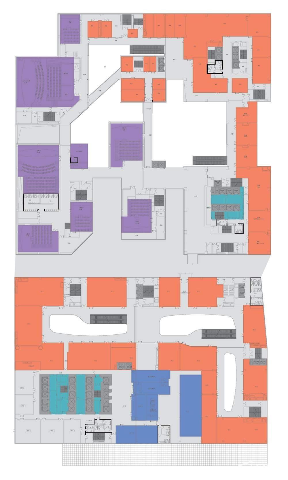 华创国际广场 商业四层平面图