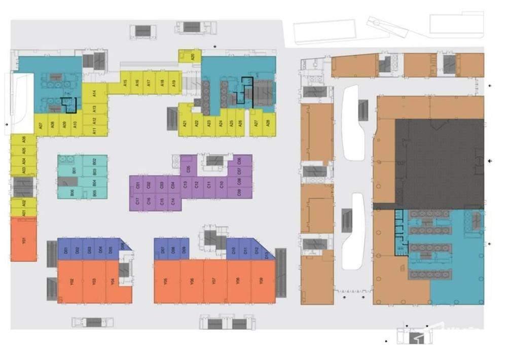 华创国际广场 商业一层平面图