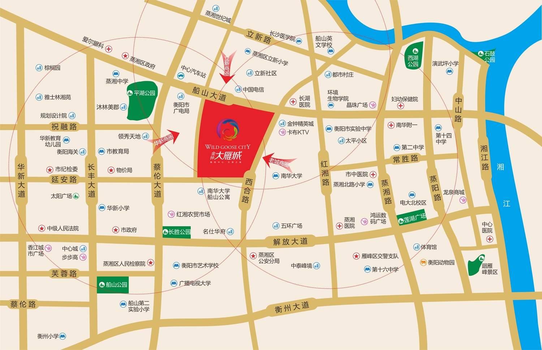 金钟·大雁城位置图