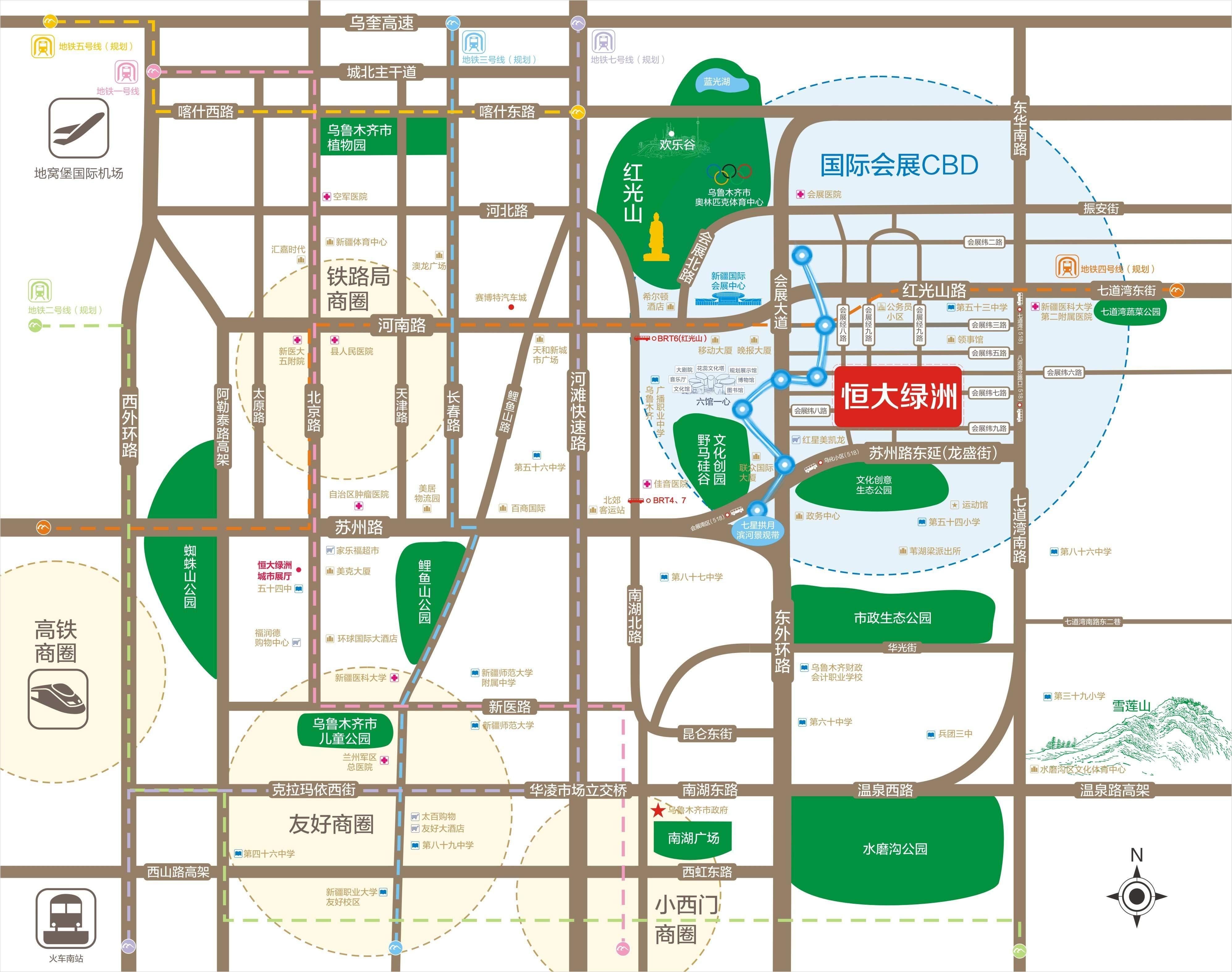 恒大绿洲位置图