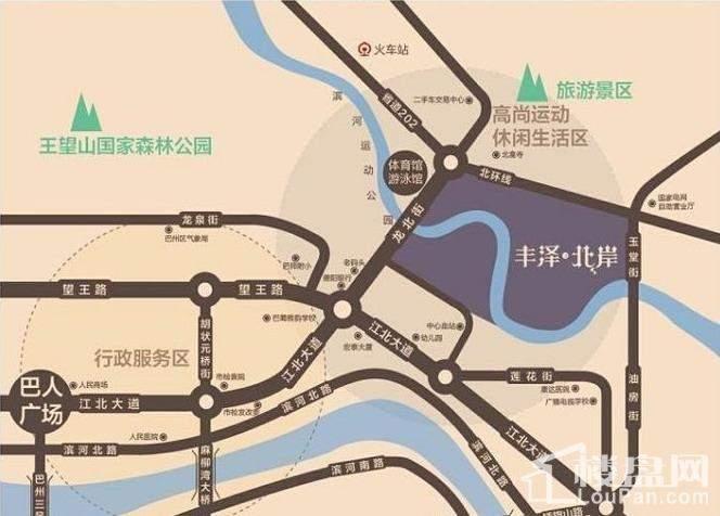 丰泽园·丰泽北岸位置图