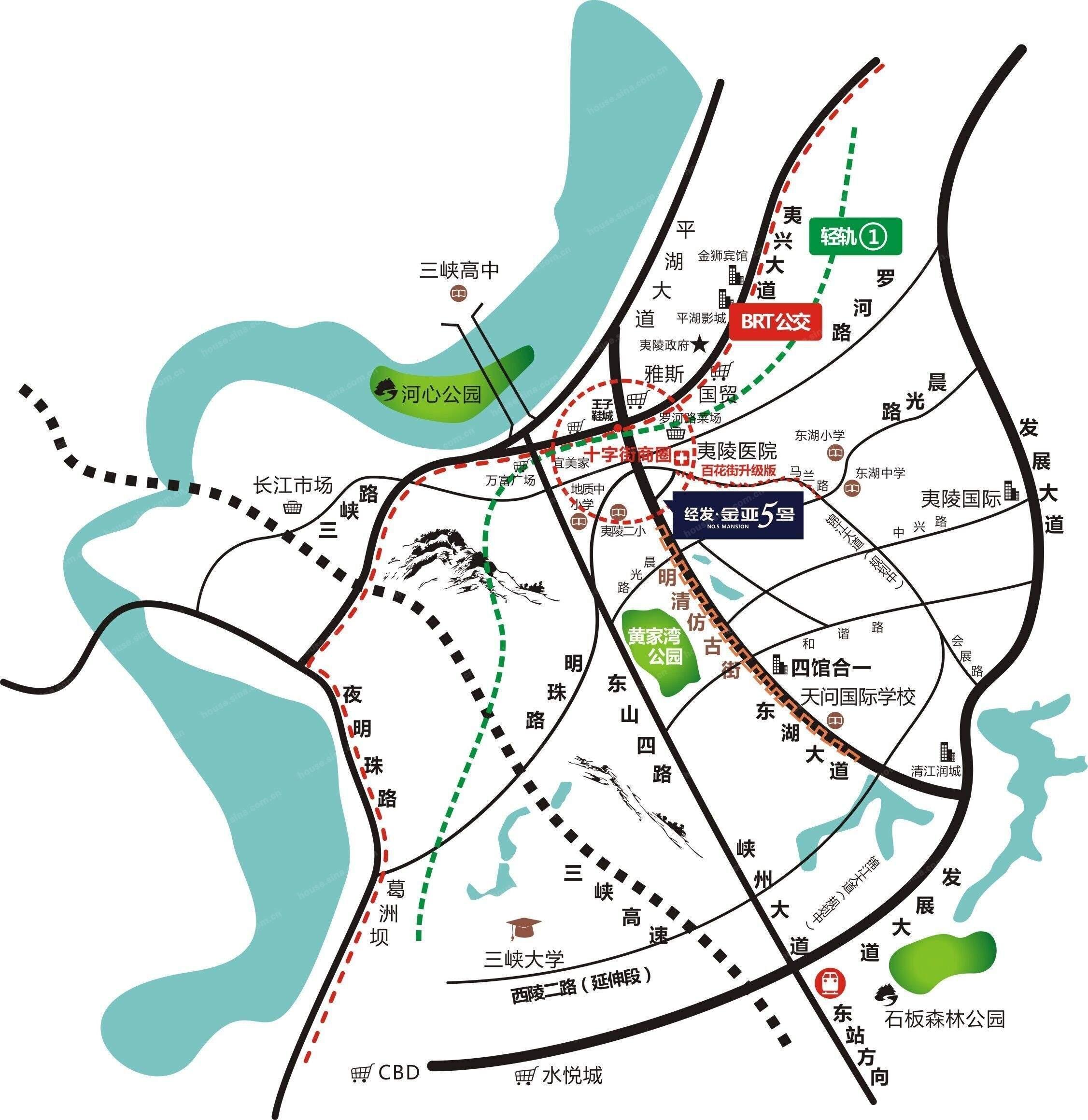 金亚5号位置图