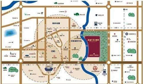 龙湖春江郦城位置图