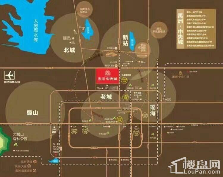 禹洲中央城位置图