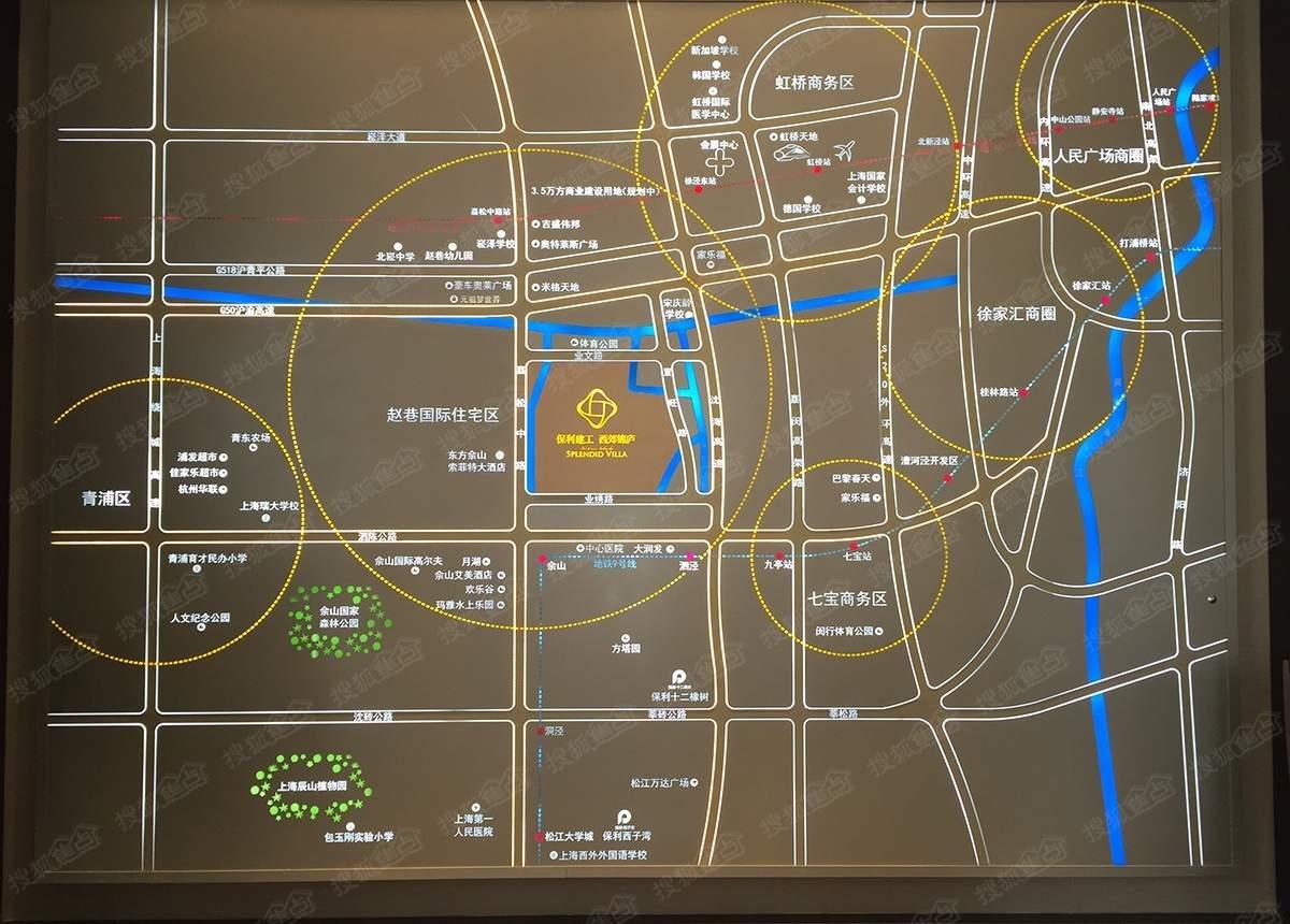 保利建工西郊锦庐位置图