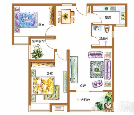 锦江城市花园二期户型图