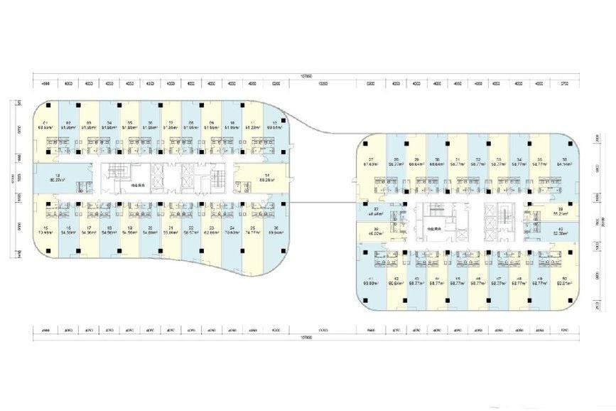 天祥水晶湾 办公楼7-13层户型图