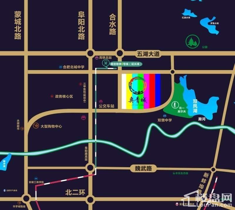 奥青城凤湖嘉园位置图