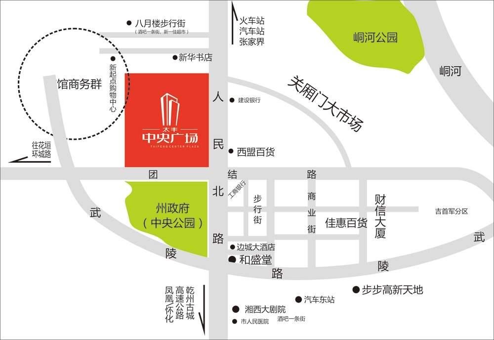 太丰中央广场位置图