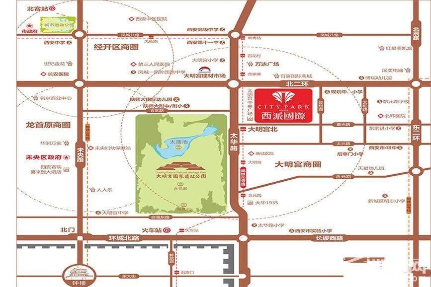 中国铁建·西派国际位置图
