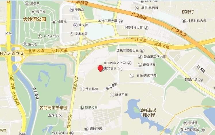香山美墅位置图
