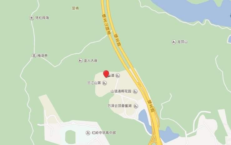 万科瑧山道位置图
