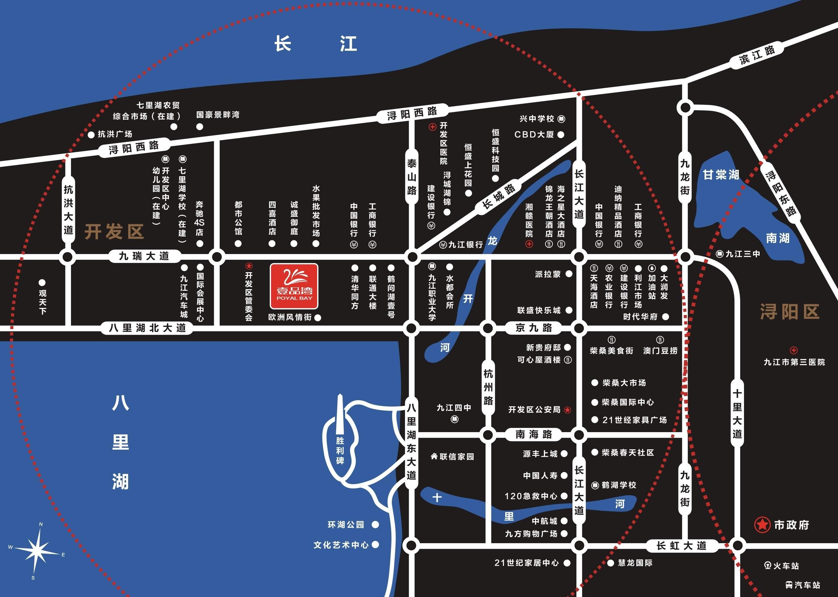 壹品湾(潜邸•源郡)位置图