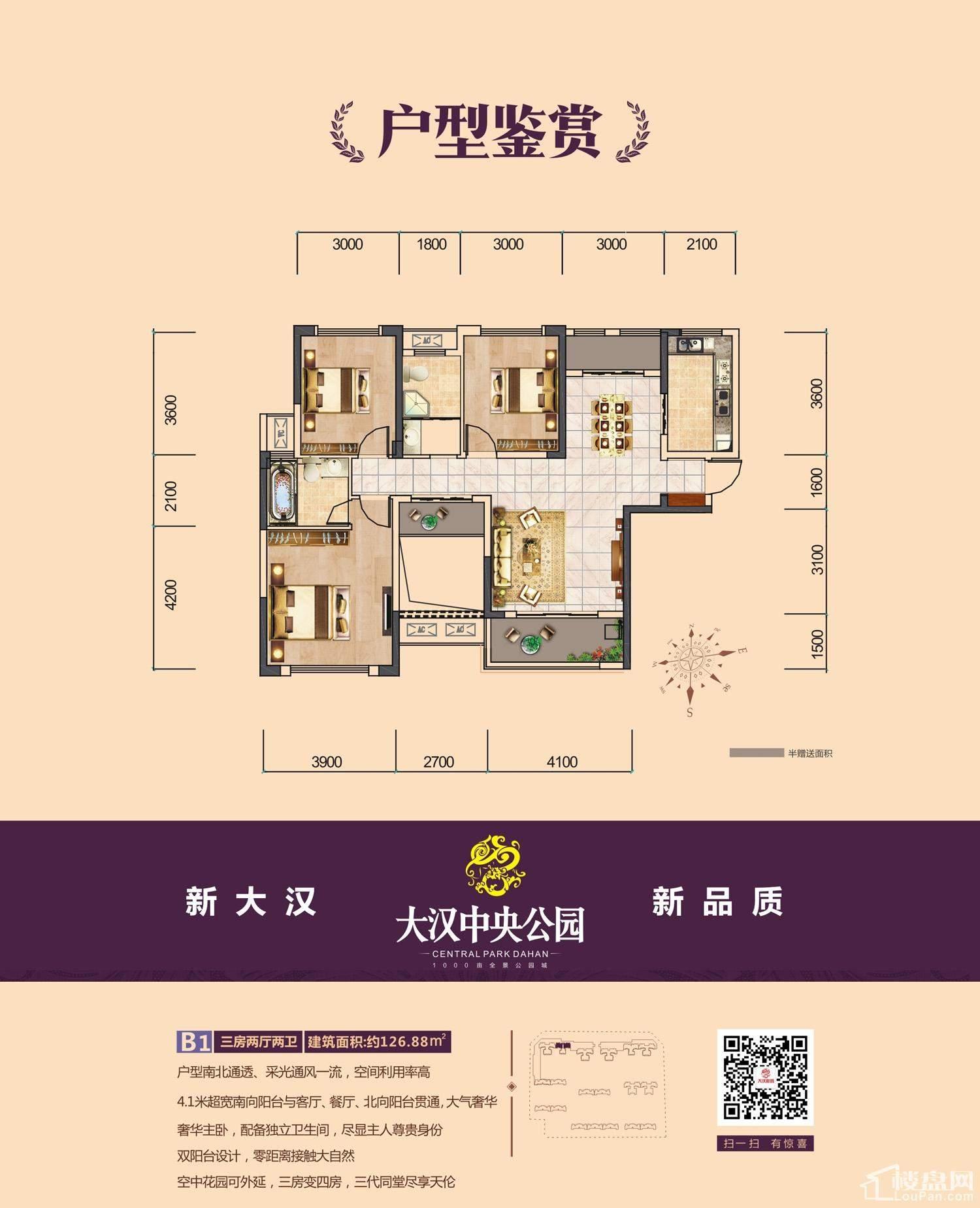 大汉新城3期B1户型图