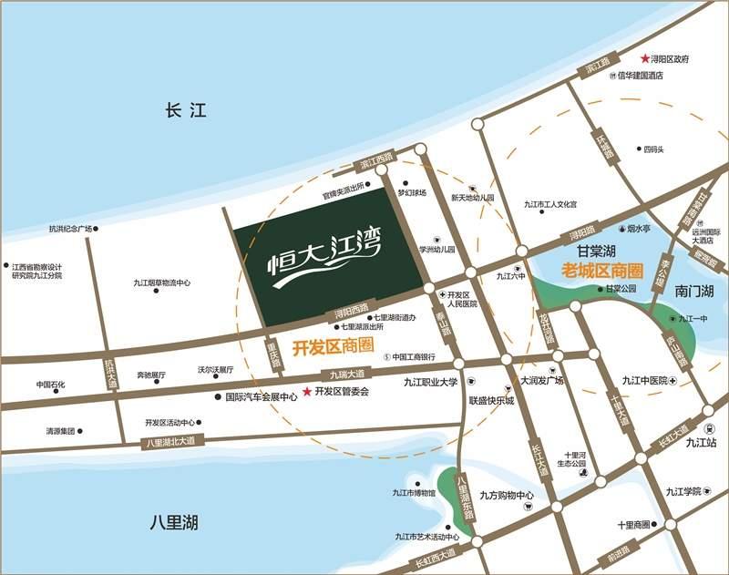 九江恒大江湾位置图