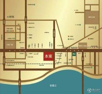 中沅广场公寓位置图