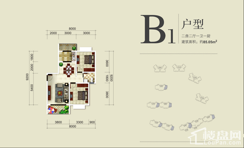 中华坊三期海棠园户型图