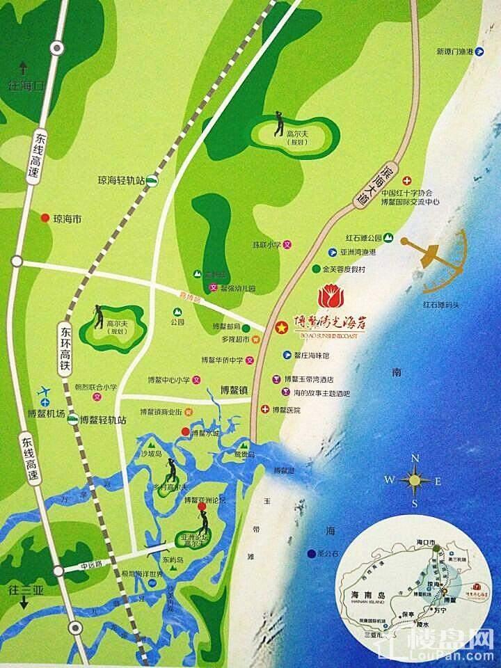 博鳌阳光海岸位置图