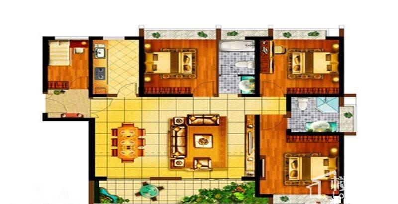 棕榈泉国际公馆二期户型图