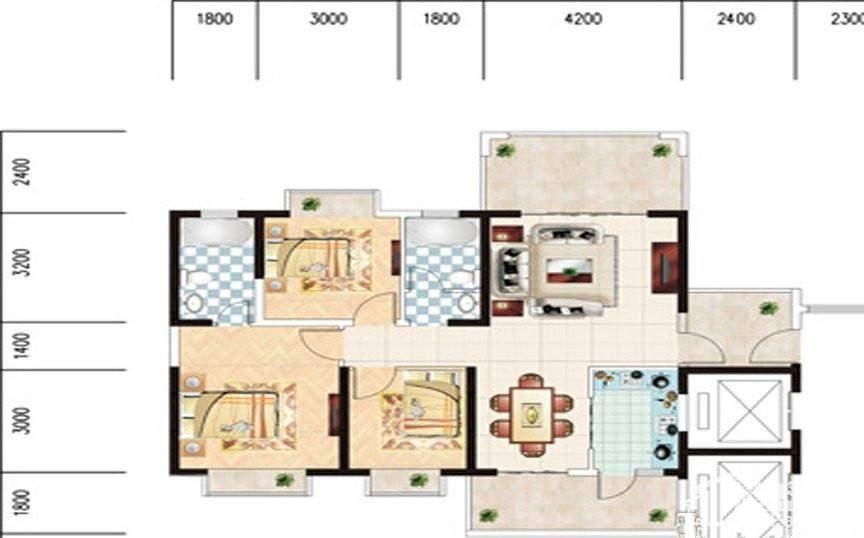 椰海新城三期·棕榈园户型图