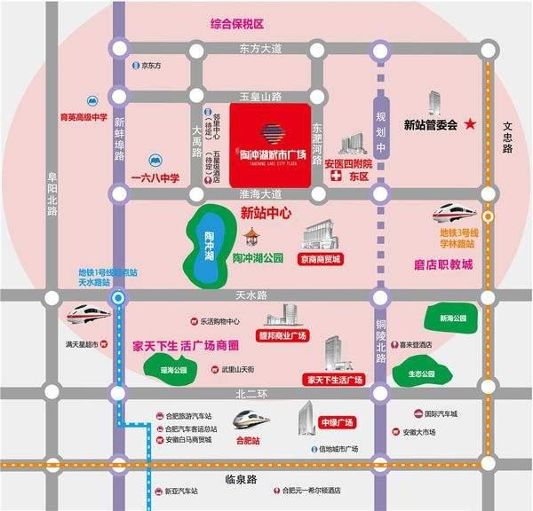 陶冲湖城市广场位置图