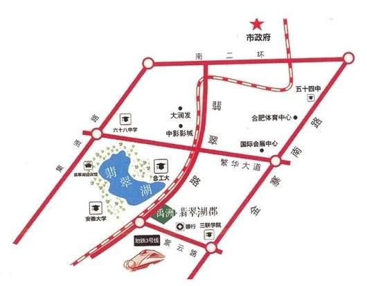 禹洲翡翠湖郡位置图