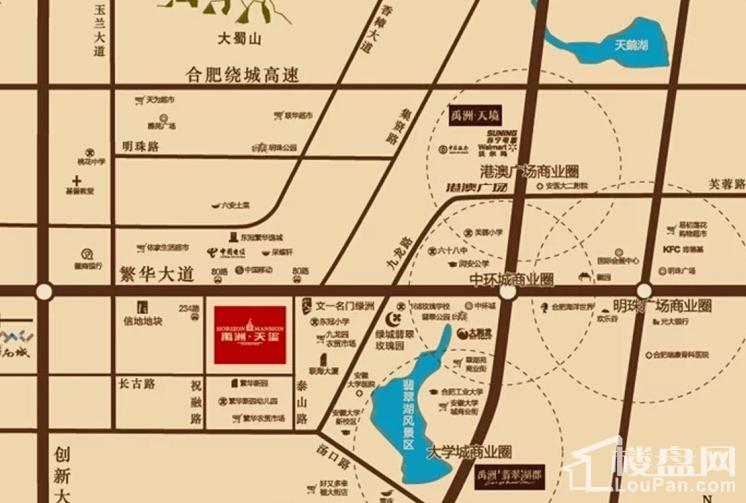 禹洲天玺位置图