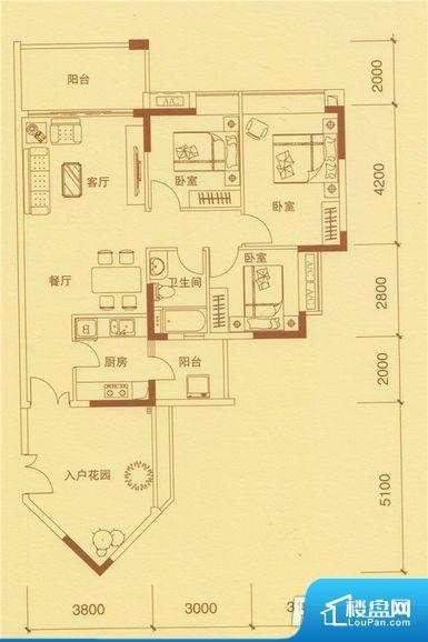 次重要空间不够方正,家具不好摆放,而且容易浪费空间。全明户型,每一个空间都带有窗户,保证后期居住时能够充分采光和透气;通透户型,保证空气能够流通起来,空气质量较好;采光较好,保证居住舒适度。卫生间门朝向人较多的区域,导致区域空气不好,舒适度差。客厅、卧室、卫生间和厨房等主要功能间尺寸以及比例合适,方便采光、通风,后期居住方便。公摊相对合理,一般房子公摊基本都在此范畴。日常使用基本满足。