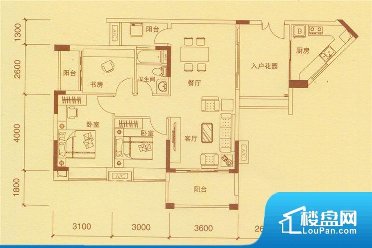 次重要空间不够方正,家具不好摆放,而且容易浪费空间。全明户型,每一个空间都带有窗户,保证后期居住时能够充分采光和透气;通透户型,保证空气能够流通起来,空气质量较好;采光较好,保证居住舒适度。厨卫等重要的使用较为频繁的空间布局合理,方便使用,并且能够保证整个空间的空气质量。卧室作为较为重要的休息空间,尺寸合适,有利于主人更好的休息;客厅作为重要的会客空间,尺寸合适,能够保证主人会客需求。卫生间和厨房