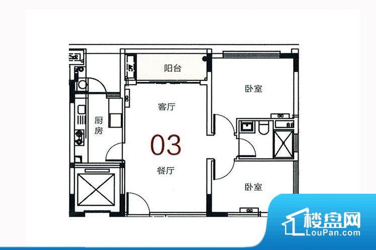各个空间方正,后期空间利用率高。重要空间非南向或者东向,不能很好的保证采光,居住舒适度不高。整个户型空间布局合理,真正做到了干湿分离、动静分离,方便后期生活。卧室作为较为重要的休息空间,尺寸合适,有利于主人更好的休息;客厅作为重要的会客空间,尺寸合适,能够保证主人会客需求。卫生间和厨房作为重要的功能区间,尺寸合适,能够很好的满足主人生活需求。公摊相对合理,一般房子公摊基本都在此范畴。日常使用基本满