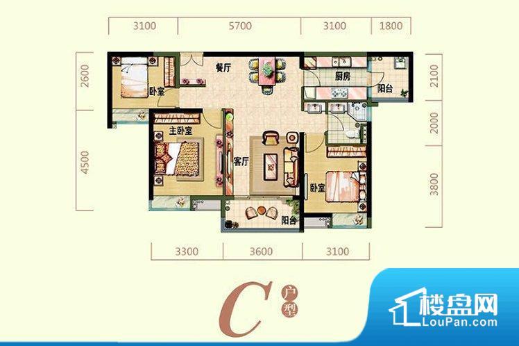 各个空间方正,后期空间利用率高。整个空间采光很好,主卧和客厅均能够保证很好的采光;并且能真正做到全明通透,整个空间空气好。主卧无卫生间,客卫在公共位置,自然主人需要和其他人共用,难免会发生不够用的情况。卧室作为较为重要的休息空间,尺寸合适,有利于主人更好的休息;客厅作为重要的会客空间,尺寸合适,能够保证主人会客需求。卫生间和厨房作为重要的功能区间,尺寸合适,能够很好的满足主人生活需求。公摊相对合理