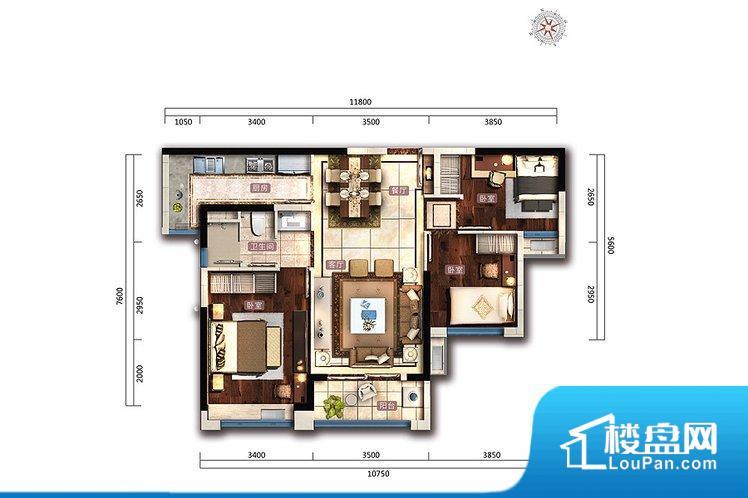 各个空间都很方正,方便后期家具的摆放。全明通透的户型,居住舒适度较高。整个空间有充足的采光,这一点对于后期居住,尤其重要。厨卫等重要的使用较为频繁的空间布局合理,方便使用,并且能够保证整个空间的空气质量。客厅、卧室、卫生间和厨房等主要功能间尺寸以及比例合适,方便采光、通风,后期居住方便。