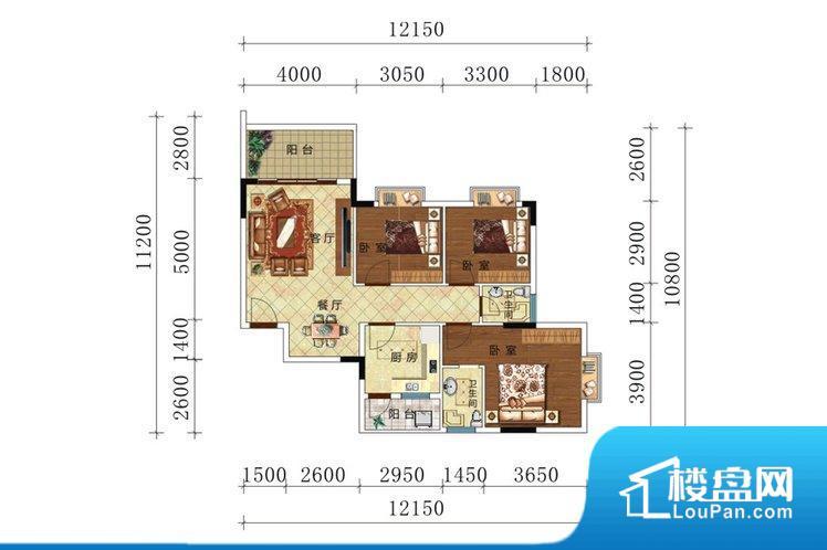 各个空间方正,后期空间利用率高。重要空间非南向或者东向,不能很好的保证采光,居住舒适度不高。卧室位置合理,能够保证足够安静,客厅的声音不会影响卧室的休息;卫生间位置合理,使用起来动线比较合理;厨房位于门口,方便使用和油烟的排出。客厅、卧室、卫生间和厨房等主要功能间尺寸以及比例合适,方便采光、通风,后期居住方便。公摊相对合理,一般房子公摊基本都在此范畴。日常使用基本满足。
