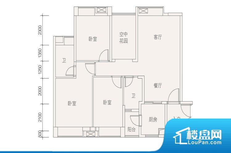 整个空间方正,拐角少,后期利用难度低,提升整个空间的利用率。全明通透的户型,居住舒适度较高。整个空间有充足的采光,这一点对于后期居住,尤其重要。整个户型空间布局合理,真正做到了干湿分离、动静分离,方便后期生活。卧室作为较为重要的休息空间,尺寸合适,有利于主人更好的休息;客厅作为重要的会客空间,尺寸合适,能够保证主人会客需求。卫生间和厨房作为重要的功能区间,尺寸合适,能够很好的满足主人生活需求。公摊