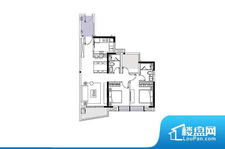 各个空间都很方正,方便后期家具的摆放。整个空间采光很好,主卧和客厅均能够保证很好的采光;并且能真正做到全明通透,整个空间空气好。卧室位置合理,能够保证足够安静,客厅的声音不会影响卧室的休息;卫生间位置合理,使用起来动线比较合理;厨房位于门口,方便使用和油烟的排出。各个功能区间面积大小都比较合理,后期使用起来比较方便,居住舒适度高。公摊高于15%且低于25%,整体得房率不算太高。