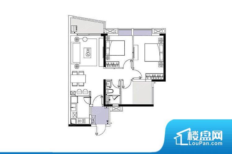 整个空间方正,拐角少,后期利用难度低,提升整个空间的利用率。全明户型,每一个空间都带有窗户,保证后期居住时能够充分采光和透气;通透户型,保证空气能够流通起来,空气质量较好;采光较好,保证居住舒适度。厨卫等重要的使用较为频繁的空间布局合理,方便使用,并且能够保证整个空间的空气质量。卧室作为较为重要的休息空间,尺寸合适,有利于主人更好的休息;客厅作为重要的会客空间,尺寸合适,能够保证主人会客需求。卫生