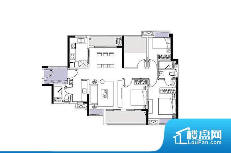 各个空间都很方正,方便后期家具的摆放。整个空间采光很好,主卧和客厅均能够保证很好的采光;并且能真正做到全明通透,整个空间空气好。整个户型空间布局合理,真正做到了干湿分离、动静分离,方便后期生活。客厅、卧室、卫生间和厨房等主要功能间尺寸以及比例合适,方便采光、通风,后期居住方便。公摊相对合理,一般房子公摊基本都在此范畴。日常使用基本满足。
