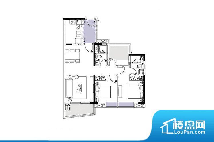 各个空间方正,后期空间利用率高。全明户型,每一个空间都带有窗户,保证后期居住时能够充分采光和透气;通透户型,保证空气能够流通起来,空气质量较好;采光较好,保证居住舒适度。卫生间朝向客厅私密性较差,卫生间朝向餐厅产生的气味及细菌对餐厅影响较大,卫生间朝向卧室,产生的气味对卧室有影响。卧室作为较为重要的休息空间,尺寸合适,有利于主人更好的休息;客厅作为重要的会客空间,尺寸合适,能够保证主人会客需求。卫