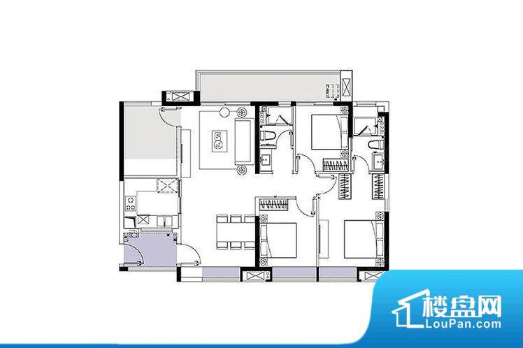各个空间方正,后期空间利用率高。全明户型,每一个空间都带有窗户,保证后期居住时能够充分采光和透气;通透户型,保证空气能够流通起来,空气质量较好;采光较好,保证居住舒适度。卧室位置合理,能够保证足够安静,客厅的声音不会影响卧室的休息;卫生间位置合理,使用起来动线比较合理;厨房位于门口,方便使用和油烟的排出。客厅、卧室、卫生间和厨房等主要功能间尺寸以及比例合适,方便采光、通风,后期居住方便。公摊高于1