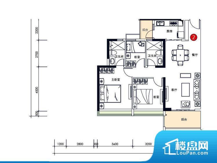 整个空间方正,拐角少,后期利用难度低,提升整个空间的利用率。全明户型,每一个空间都带有窗户,保证后期居住时能够充分采光和透气;通透户型,保证空气能够流通起来,空气质量较好;采光较好,保证居住舒适度。卧室是休息的地方,需要安静,如果距离客厅和餐厅会有噪音,影响休息。时间长,主人容易神经衰弱。各个功能区间面积大小都比较合理,后期使用起来比较方便,居住舒适度高。