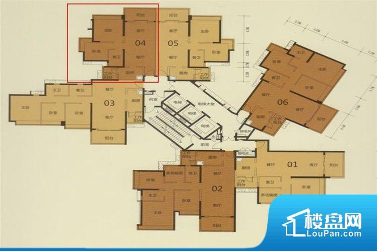 各个空间都很方正,方便后期家具的摆放。整个空间采光很好,主卧和客厅均能够保证很好的采光;并且能真正做到全明通透,整个空间空气好。卫生间门朝向人较多的区域,导致区域空气不好,舒适度差。各个功能区间面积大小都比较合理,后期使用起来比较方便,居住舒适度高。公摊高于15%且低于25%,整体得房率不算太高。