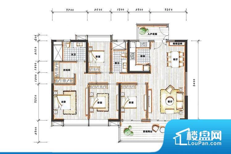 各个空间方正,后期空间利用率高。整个空间采光很好,主卧和客厅均能够保证很好的采光;并且能真正做到全明通透,整个空间空气好。厨卫等重要的使用较为频繁的空间布局合理,方便使用,并且能够保证整个空间的空气质量。卧室作为较为重要的休息空间,尺寸合适,有利于主人更好的休息;客厅作为重要的会客空间,尺寸合适,能够保证主人会客需求。卫生间和厨房作为重要的功能区间,尺寸合适,能够很好的满足主人生活需求。公摊高于1