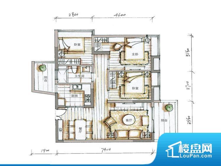 各个空间都很方正,方便后期家具的摆放。整个空间采光很好,主卧和客厅均能够保证很好的采光;并且能真正做到全明通透,整个空间空气好。厨卫等重要的使用较为频繁的空间布局合理,方便使用,并且能够保证整个空间的空气质量。卧室作为较为重要的休息空间,尺寸合适,有利于主人更好的休息;客厅作为重要的会客空间,尺寸合适,能够保证主人会客需求。卫生间和厨房作为重要的功能区间,尺寸合适,能够很好的满足主人生活需求。公摊