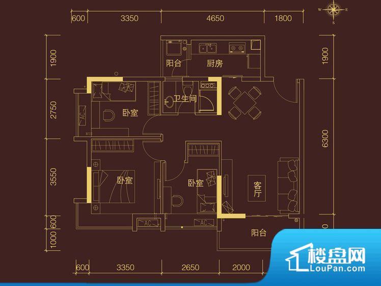 各个空间方正,后期空间利用率高。全明通透的户型,居住舒适度较高。整个空间有充足的采光,这一点对于后期居住,尤其重要。卫生间朝向卧室,产生的气味对卧室有影响。客厅、卧室、卫生间和厨房等主要功能间尺寸以及比例合适,方便采光、通风,后期居住方便。公摊高于15%且低于25%,整体得房率不算太高。