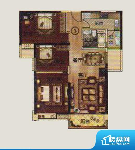 整个空间方正,拐角少,后期利用难度低,提升整个空间的利用率。全明通透的户型,居住舒适度较高。整个空间有充足的采光,这一点对于后期居住,尤其重要。卧室位置合理,能够保证足够安静,客厅的声音不会影响卧室的休息;卫生间位置合理,使用起来动线比较合理;厨房位于门口,方便使用和油烟的排出。客厅、卧室、卫生间和厨房等主要功能间尺寸以及比例合适,方便采光、通风,后期居住方便。公摊相对合理,一般房子公摊基本都在此