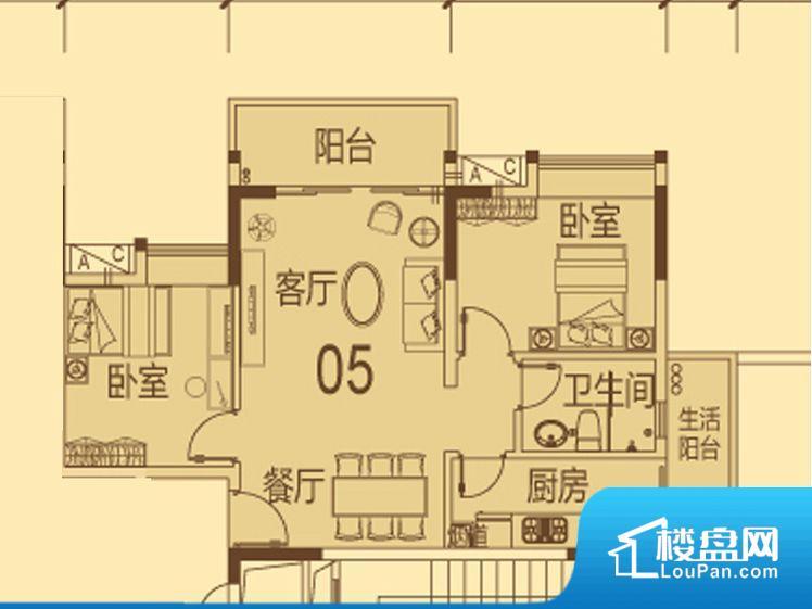 天马河壹号三期·御景湾户型图