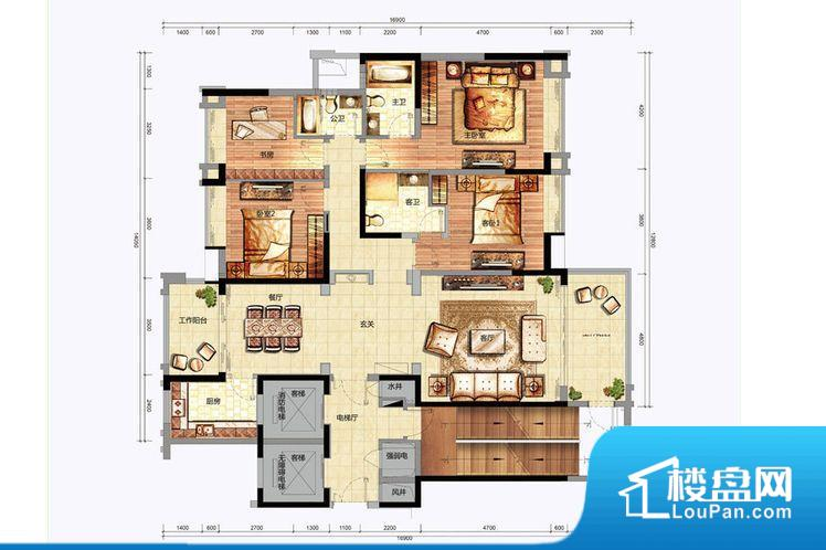 各个空间方正,后期空间利用率高。全明户型,每一个空间都带有窗户,保证后期居住时能够充分采光和透气;通透户型,保证空气能够流通起来,空气质量较好;采光较好,保证居住舒适度。整个户型空间布局合理,真正做到了干湿分离、动静分离,方便后期生活。卧室作为较为重要的休息空间,尺寸合适,有利于主人更好的休息;客厅作为重要的会客空间,尺寸合适,能够保证主人会客需求。卫生间和厨房作为重要的功能区间,尺寸合适,能够很