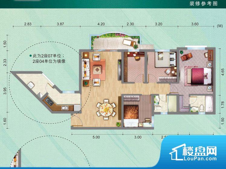 次重要空间不够方正,家具不好摆放,而且容易浪费空间。整个空间采光很好,主卧和客厅均能够保证很好的采光;并且能真正做到全明通透,整个空间空气好。卧室门朝向客厅,外人可以一目了然的看到卧室,私密性较差。卫生间朝向客厅私密性较差,卫生间朝向餐厅产生的气味及细菌对餐厅影响较大,卫生间朝向卧室,产生的气味对卧室有影响。各个功能区间面积大小都比较合理,后期使用起来比较方便,居住舒适度高。